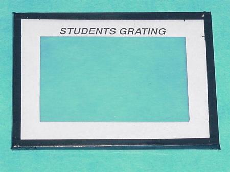 Diffraction Grating Glass Mount
