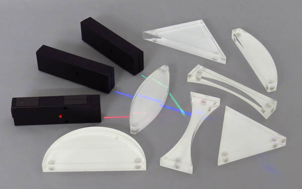 Prism Acrylic Set of 7 Magnetic Back with 3 LED Light Sources