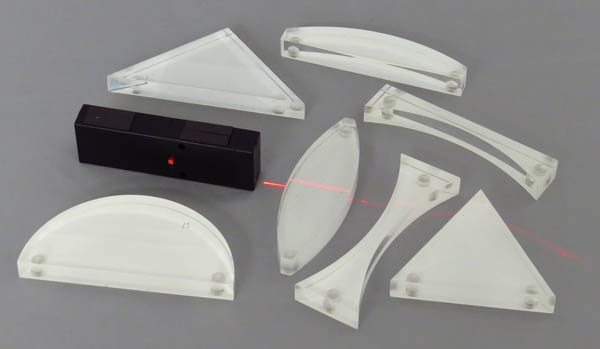 Prism Acrylic Set of 7 Magnetic Back with LED Light Source