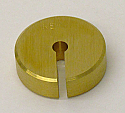 Weight Weights Slotted 10 gm Brass