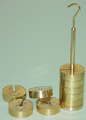 Slotted Weights Set Brass