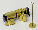 Slotted Weight Set of 10 Brass with Stand and Hanger