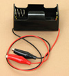 'D' Cell Battery Holder With Clips