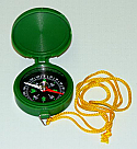 Magnetic Compass Plastic Body with Cover 45mm