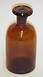 Reagent Bottle Amber Apothecary Jar Glass 125 ml