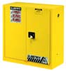 Justrite Sure-Grip EX Safety Cabinet 30 Gallon 2 Door 1 Shelf