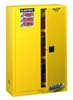 Justrite Sure-Grip EX Safety Cabinet 45 Gallon 1 Self-Close Door 2 Shelves