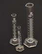 Graduated Cylinders Glass Hex Base 100ml