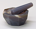 Mortar and Pestle Agate 75mm
