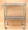 "Lab Cart Stainless Steel 27"" x 17"" x 34.5"""