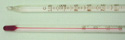 Lab Thermometer Red Alcohol Double Scale 110 C and 230 F Partial Immersion